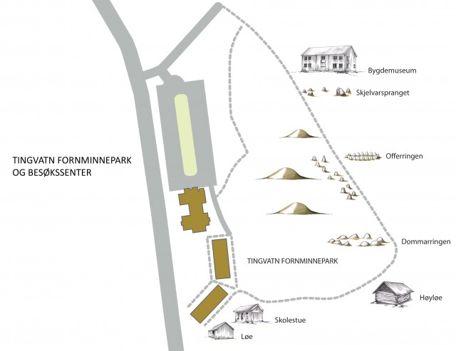 Map of the Tingvatn area.
